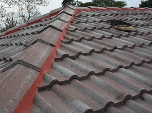 Roof Restoration in Eastern Suburbs Melbourne - rebedding before